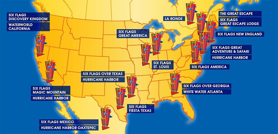 Six Flags parken USA